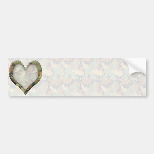 ♥ Camouflage Heart ♥ Bumper Sticker