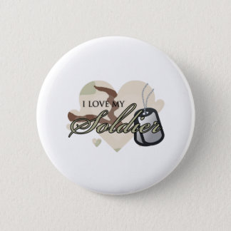 Camouflage Heart Button