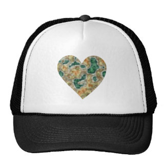 Camouflage heart camouflage heart mesh hats