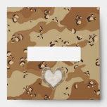 Camouflage Heart - Desert Envelopes
