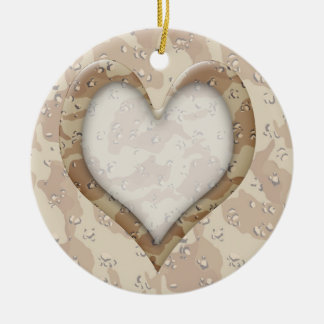 Camouflage Heart - Desert Christmas Ornaments