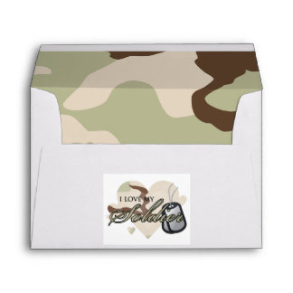 Camouflage Heart Envelopes