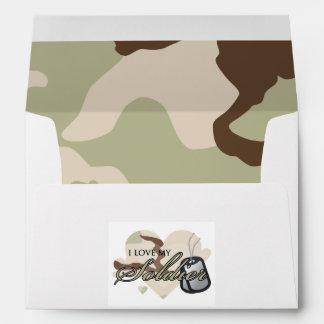 Camouflage Heart Envelope