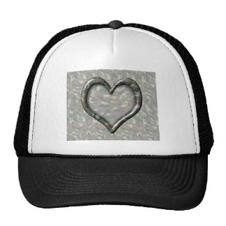 Camouflage Heart Hat