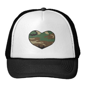 Camouflage Heart Hats