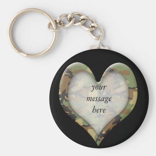 Camouflage Heart Keychain