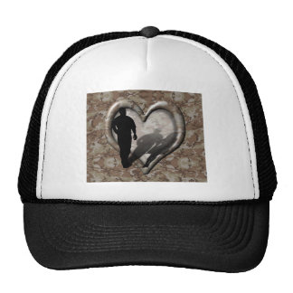 Camouflage Heart - Man Missing Woman Mesh Hats