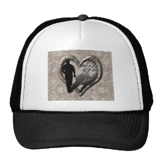 Camouflage Heart - Man Missing Woman (w/Text) Trucker Hats