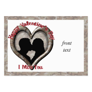 Camouflage Heart - Miss You on Valentine s Day Business Cards