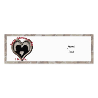 Camouflage Heart - Miss You on Valentine s Day Business Card Templates