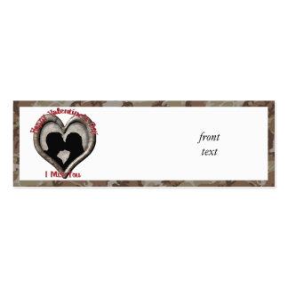 Camouflage Heart - Miss You on Valentine s Day Business Card