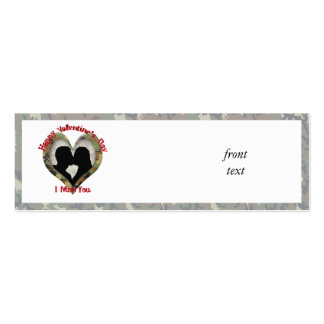 Camouflage Heart - Missing You on Valentine s Day Business Card Template