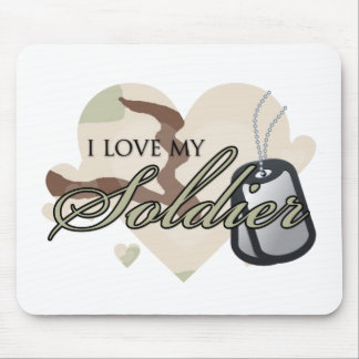 Camouflage Heart Mouse Pad