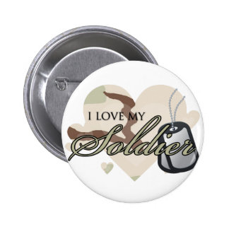 Camouflage Heart Pinback Button