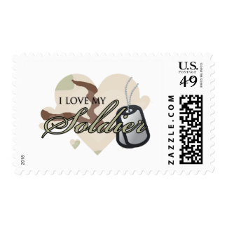 Camouflage Heart Postage Stamps