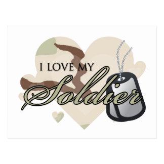 Camouflage Heart Postcard