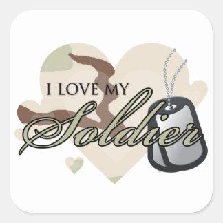 Camouflage Heart Square Sticker