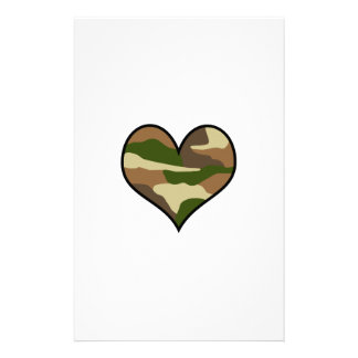 CAMOUFLAGE HEART STATIONERY DESIGN