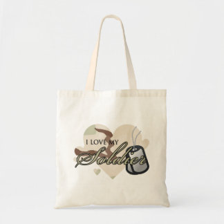 Camouflage Heart Tote Bag
