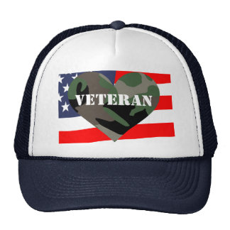 Camouflage Heart Veterans Hat
