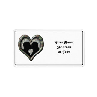 Camouflage Heart with Kissing Couple Personalized Address Labels