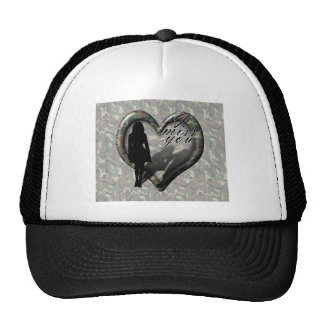 Camouflage Heart - Woman Missing Man Hats