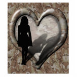 Camouflage Heart - Woman Missing Man Photo Cutouts