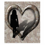 Camouflage Heart - Woman Missing Man Acrylic Cut Out