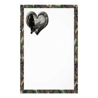 Camouflage Heart - Woman Missing Man Stationery