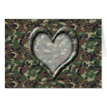 Camouflage Heart - Woodland Cards