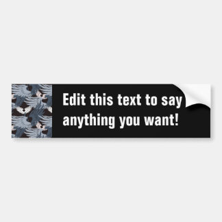 Camouflage Heartwings (bluegray) Car Bumper Sticker