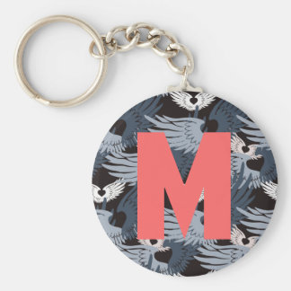 Camouflage Heartwings (bluegray) Keychain