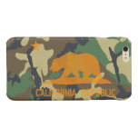 Camouflage Hunter Orange California Republic Flag Glossy iPhone 6 Plus Case