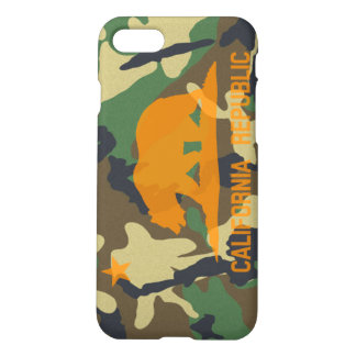 Camouflage Hunter Orange California Republic Flag iPhone 8/7 Case