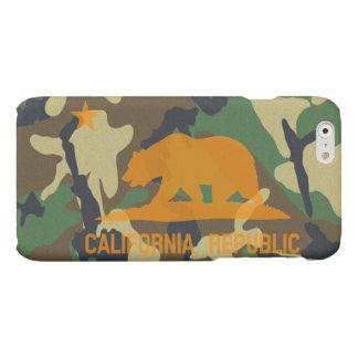 Camouflage Hunter Orange California Republic Flag Matte iPhone 6 Case