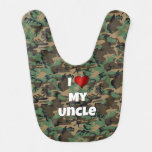 """Camouflage """"I love my Uncle"""" Baby Bib"""