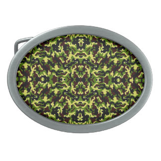 Camouflage in the Third! (jungle green) ~ Belt Buckle
