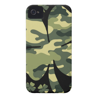 camouflage irish four leaf clover iPhone 4 covers