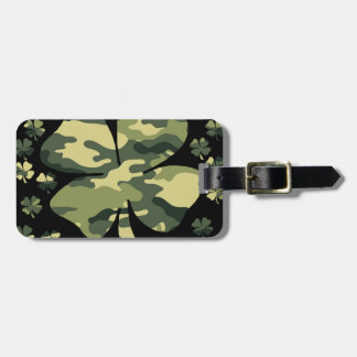 camouflage irish four leaf clover tags for luggage