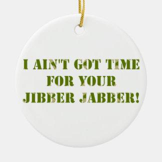 Camouflage Jibber Jabber Ceramic Ornament