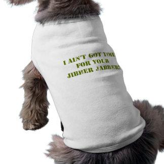 Camouflage Jibber Jabber Dog Tee