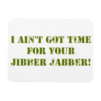 Camouflage Jibber Jabber Rectangular Photo Magnet