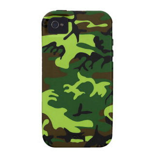 Camouflage (jungle green) ~ iPhone 4 cases