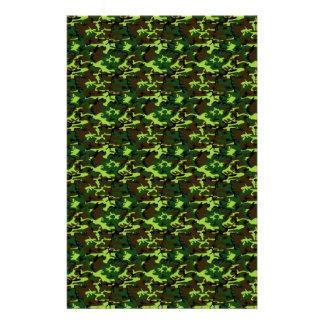 Camouflage (jungle green) ~ customized stationery