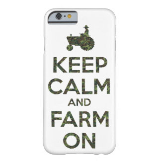 Camouflage Keep Calm and Farm On Barely There iPhone 6 Case