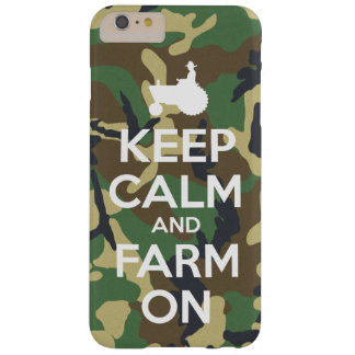 Camouflage Keep Calm and Farm On Barely There iPhone 6 Plus Case