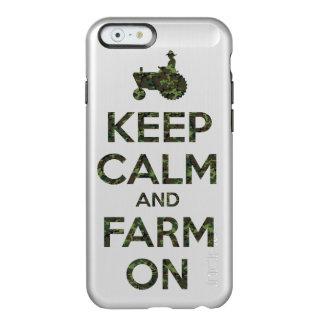 Camouflage Keep Calm and Farm On Incipio Feather Shine iPhone 6 Case