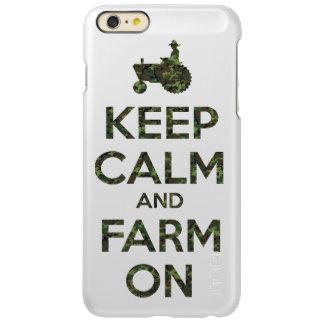 Camouflage Keep Calm and Farm On Incipio Feather Shine iPhone 6 Plus Case