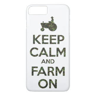 Camouflage Keep Calm and Farm On iPhone 8 Plus/7 Plus Case