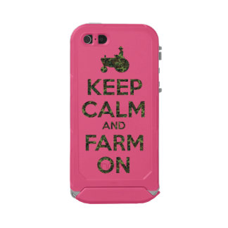 Camouflage Keep Calm and Farm On Waterproof iPhone SE/5/5s Case